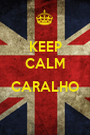 KEEP CALM  CARALHO  - Personalised Poster A1 size