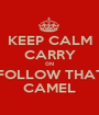 KEEP CALM CARRY 0N FOLLOW THAT CAMEL - Personalised Poster A1 size