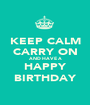 KEEP CALM CARRY ON AND HAVE A HAPPY BIRTHDAY - Personalised Poster A1 size