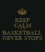 KEEP CALM CAUSE  BASKETBALL  NEVER STOPS - Personalised Poster A1 size