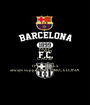 KEEP CALM CAUSE I'M A CULES always support FC BARCELONA - Personalised Poster A1 size