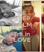 KEEP CALM Cause I'm in LOVE - Personalised Poster A1 size