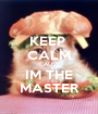 KEEP  CALM CAUSE IM THE MASTER - Personalised Poster A1 size
