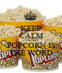 KEEP CALM 'CAUSE POPCORN IS THE WORD - Personalised Poster A1 size