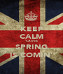 KEEP CALM 'CAUSE SPRING IS COMIN' - Personalised Poster A1 size