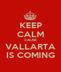 KEEP CALM CAUSE VALLARTA IS COMING - Personalised Poster A1 size