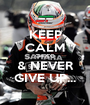 KEEP CALM CHECO & NEVER GIVE UP... - Personalised Poster A1 size