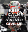 KEEP CALM CHECO  & NEVER GIVE UP - Personalised Poster A1 size