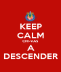 KEEP CALM CHI-VAS A DESCENDER - Personalised Poster A1 size