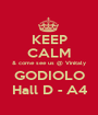 KEEP CALM & come see us @ Vinitaly GODIOLO Hall D - A4 - Personalised Poster A1 size