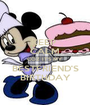 KEEP  CALM COZ IT'S MY BESTFRIEND'S BIRTHDAY - Personalised Poster A1 size