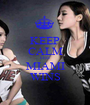 KEEP CALM COZ MIAMI WINS - Personalised Poster A1 size