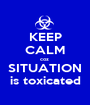 KEEP CALM coz  SITUATION is toxicated - Personalised Poster A1 size