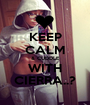KEEP CALM & CUDDLE WITH CIERRA..? - Personalised Poster A1 size