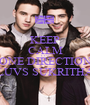 KEEP CALM CUZ ONE DIRECTION LUVS SUKRITHA - Personalised Poster A1 size