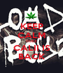KEEP CALM CUZZ CALII IS BACK - Personalised Poster A1 size