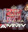 KEEP CALM DJ ZAMMY AT AURA TONIGHT - Personalised Poster A1 size
