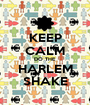 KEEP CALM DO THE HARLEM SHAKE - Personalised Poster A1 size