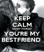 KEEP CALM DON'T FORGET YOU'RE MY BESTFRIEND  - Personalised Poster A1 size