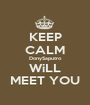 KEEP CALM DonySaputro WiLL MEET YOU - Personalised Poster A1 size