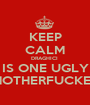 KEEP CALM DRAGHICI  IS ONE UGLY MOTHERFUCKER - Personalised Poster A1 size