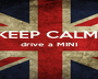 KEEP CALM, drive a MINI   - Personalised Poster A1 size