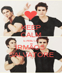 KEEP CALM E AME OS IRMÃOS  SALVATORE - Personalised Poster A1 size