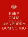 KEEP CALM e mentaliza-te que és UMA BURRA DUM CORNO - Personalised Poster A1 size