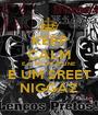 KEEP CALM E O FELIPE FELINE É UM SREET NIGGAZ - Personalised Poster A1 size