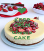 KEEP CALM EAT Cheese CAKE - Personalised Poster A1 size