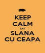 KEEP CALM EAT SLANA CU CEAPA - Personalised Poster A1 size