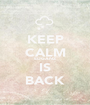 KEEP CALM EDGANZ  IS BACK - Personalised Poster A1 size