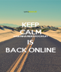 KEEP CALM EIGENHANDIGVOORUIT IS BACK ONLINE - Personalised Poster A1 size