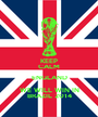 KEEP CALM ENGLAND WE WILL WIN IN BRAZIL 2014 - Personalised Poster A1 size