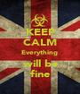 KEEP CALM Everything   will be  fine - Personalised Poster A1 size