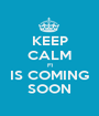 KEEP CALM F1 IS COMING SOON - Personalised Poster A1 size