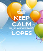 KEEP CALM FELIZ ANIVERSÁRIO LOPES  - Personalised Poster A1 size