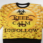 KEEP  CALM FOLLOW TO UNFOLLOW - Personalised Poster A1 size