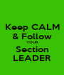 Keep CALM & Follow YOUR Section LEADER - Personalised Poster A1 size