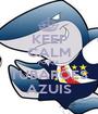 KEEP CALM FORÇA TUBARÕES AZUIS - Personalised Poster A1 size