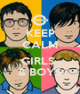 KEEP CALM  GIRLS  & BOYS - Personalised Poster A1 size