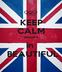KEEP CALM Gonçalo in   BEAUTIFUL - Personalised Poster A1 size