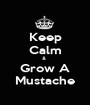 Keep Calm &  Grow A Mustache - Personalised Poster A1 size