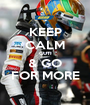 KEEP CALM GUTI & GO FOR MORE - Personalised Poster A1 size