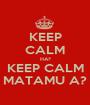 KEEP CALM HA? KEEP CALM MATAMU A? - Personalised Poster A1 size