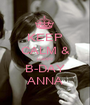KEEP CALM & HAPPY B-DAY ANNA - Personalised Poster A1 size