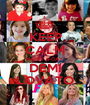 KEEP CALM HAPPY B-DAY DEMI LOVATO - Personalised Poster A1 size