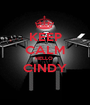 KEEP CALM HELLO  CINDY  - Personalised Poster A1 size