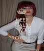 KEEP CALM HEN PARTY IN PROGRESS - Personalised Poster A1 size