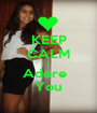 KEEP CALM I Adore   You - Personalised Poster A1 size